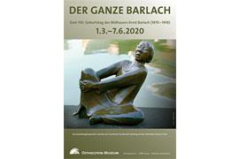 """Plakat Ausstellung """"Der ganze Barlach"""" - Ostholstein-Museum Eutin"""