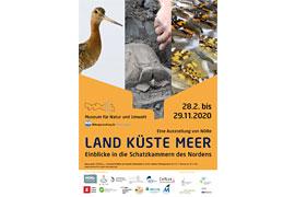 """Plakat """"Land Küste Meer"""" 2020 – Museum für Natur und Umwelt – Lübeck"""