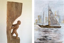 Ausstellung Ulrike Dillig – Bildhauerei und Renate Straatmann – Malerei
