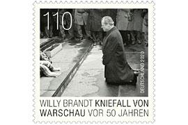Briefmarke zu Willy Brandts Kniefall von Warschau vor 50 Jahren