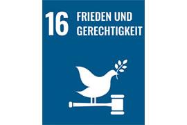 Ausstellung #DieUNundWIR – Frieden und Gerechtigkeit lautet eines der 17 SDGs (Sustainable Development Goals)