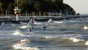 Windsurfen vor Travemünde