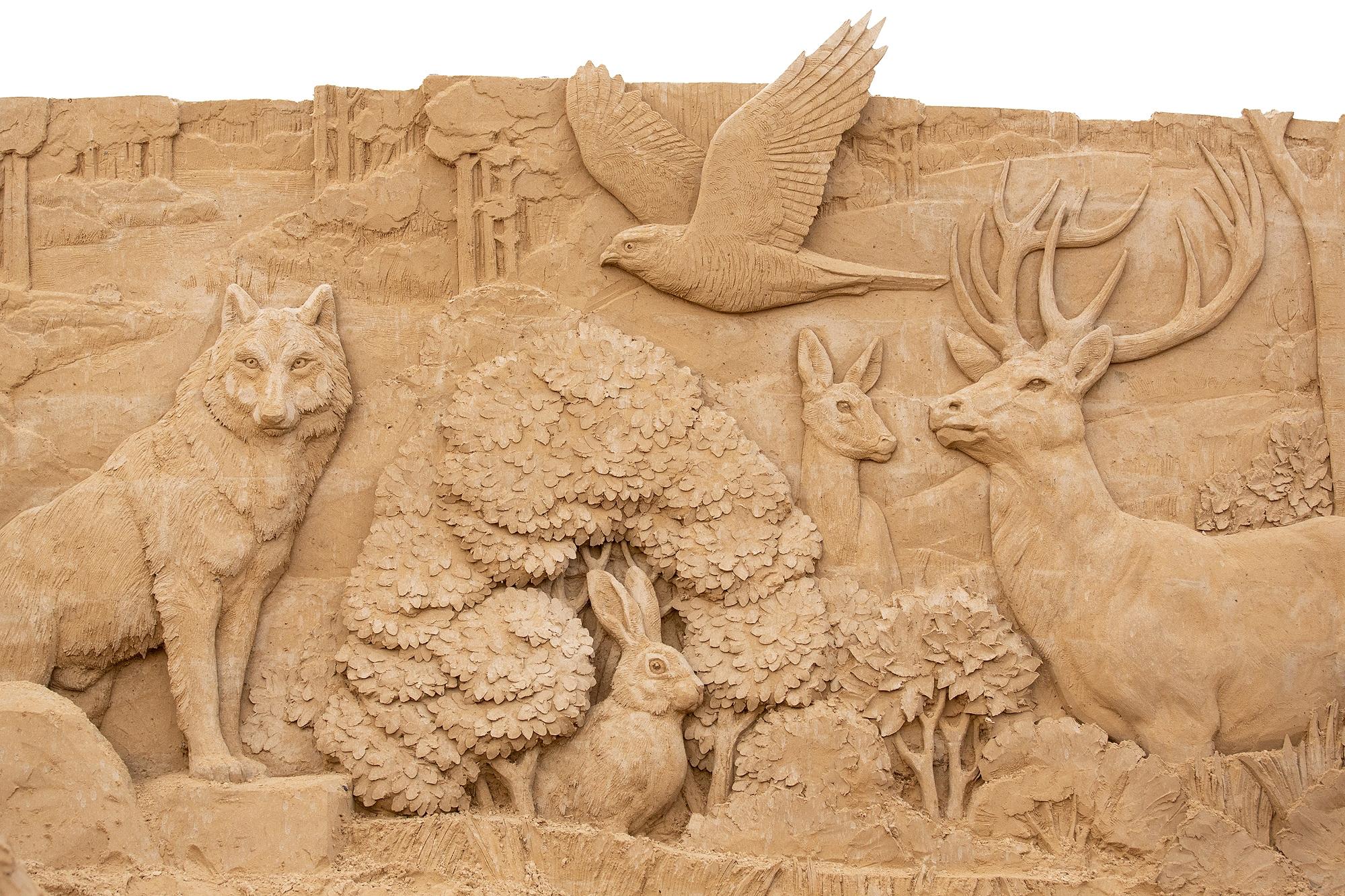 2019 Heringsdorf; Sandskulpturen; Usedom © Sebastian John (SANDSKULPTUREN TRAVEMÜNDE MUSEA GMBH)