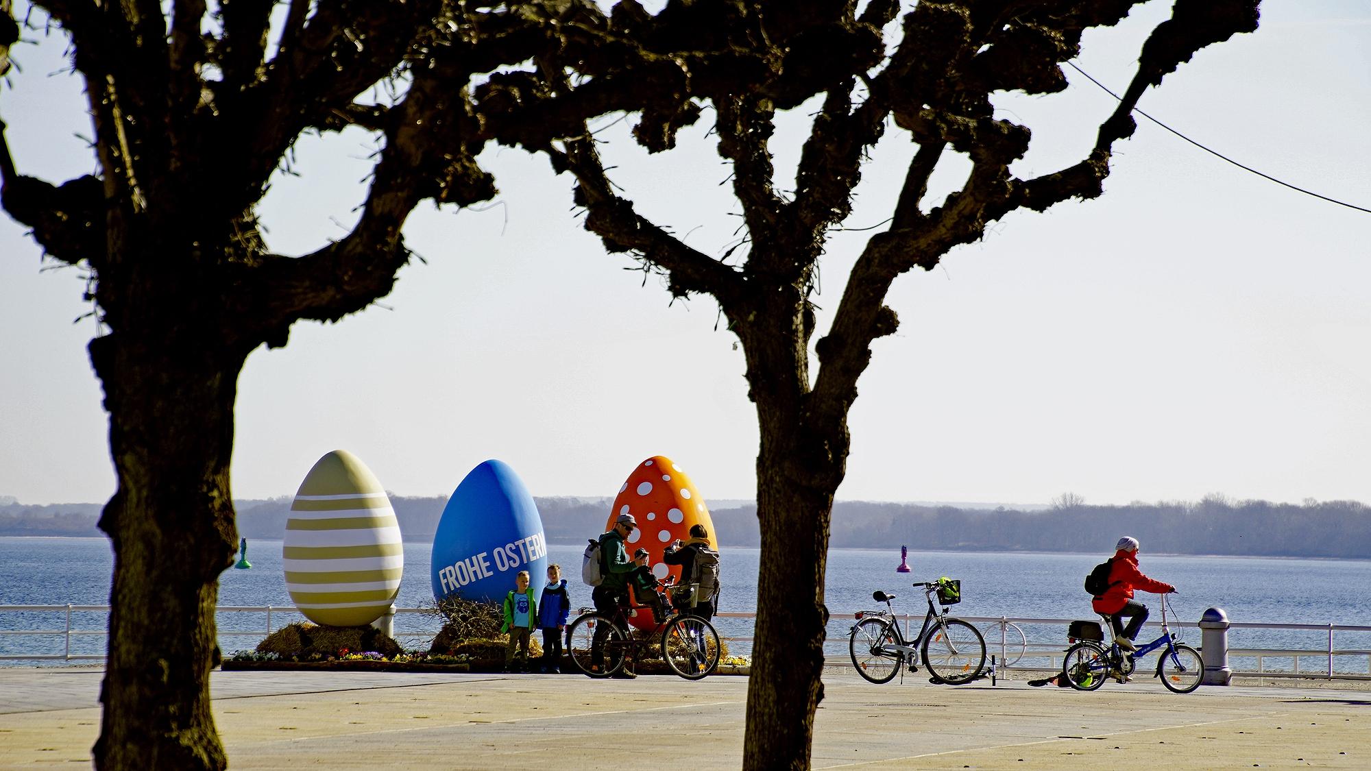 Riesen-Ostereier in Travemünde 2021 © TraveMedia