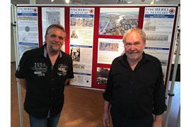 zeiTTor Fischereiausstellung Kuratoren Thomas Schwarz, links und Norbert Kahl, rechts