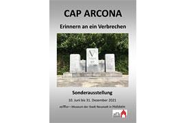 """Plakat Wanderausstellung """"Cap Arcona. Erinnern an ein Verbrechen"""" im zeiTTor"""