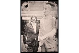 Dr. Birte Lipinski mit Thomas Mann © Martin Diesch