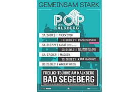 """Plakat """"Gemeinsam stark"""" Kalkberg Bad Segeberg"""