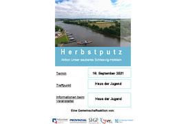 Plakat Aktionstag Unser sauberes Schleswig-Holstein