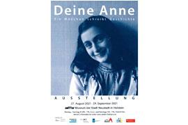 Plakat Ausstellung Anne Frank - zeiTTor Neustadt in Holstein