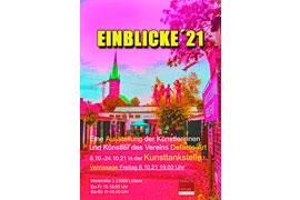 Plakat - Einblicke '21 - Kunsttankstelle Lübeck