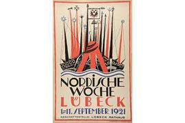 Plakat Nordische Woche 1921 - Alfred Mahlau © die Lübecker Museen